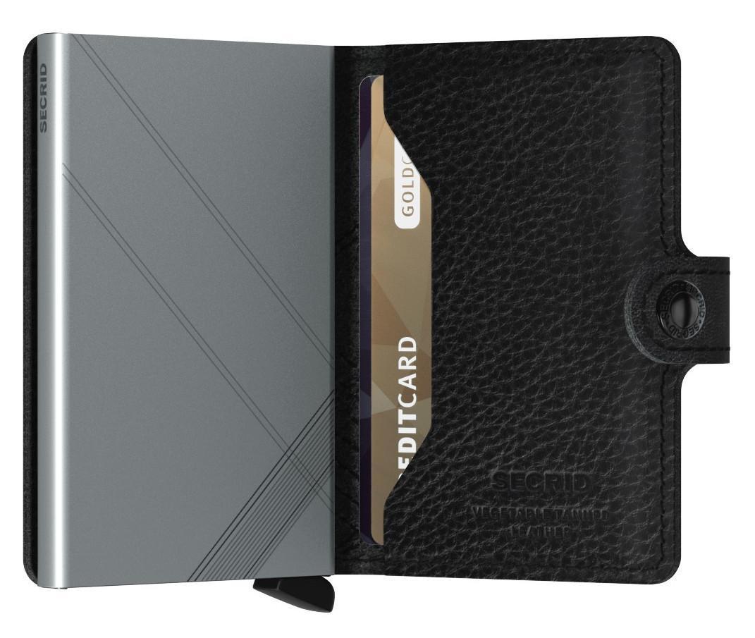 Kartenbörse bestickt schwarz Stitch Linea Secrid Miniwallet
