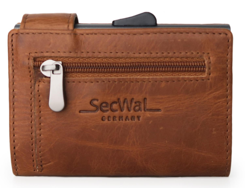 176816b73688d Kartenetui SecWal Dallas braun Münzfach mit Reißverschluss - Bags   more