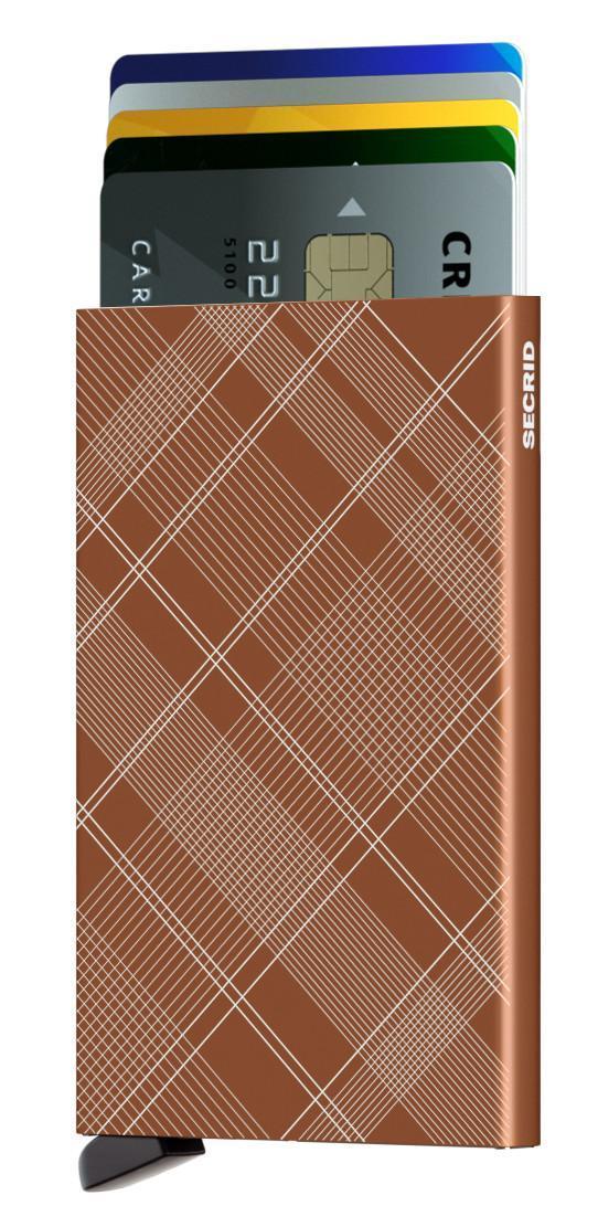 Kartenetui Cardprotector Secrid Laser Tartan Rust orange RFID