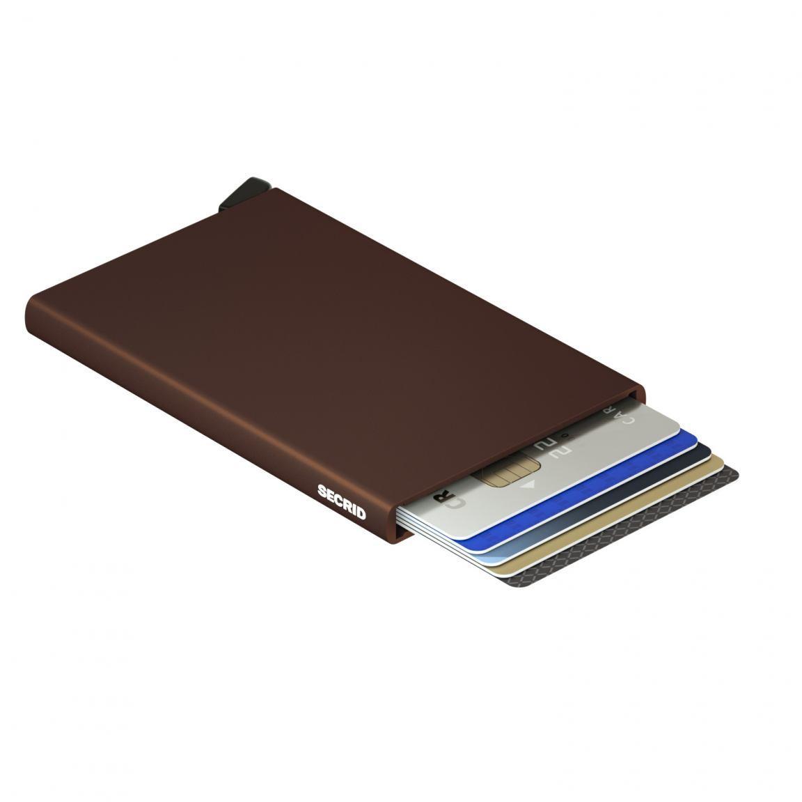 Kartenetui Secrid Cardprotector Brown Chipkartenschutz RFID