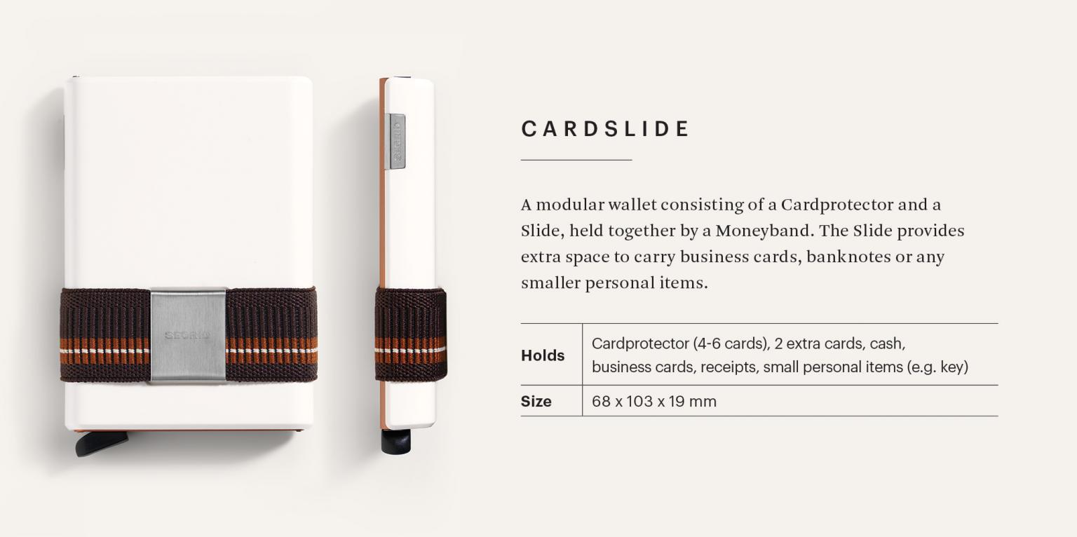 Kartenetui Secrid Cardslide Set RFID-Schutz Zigzag Titanium grau