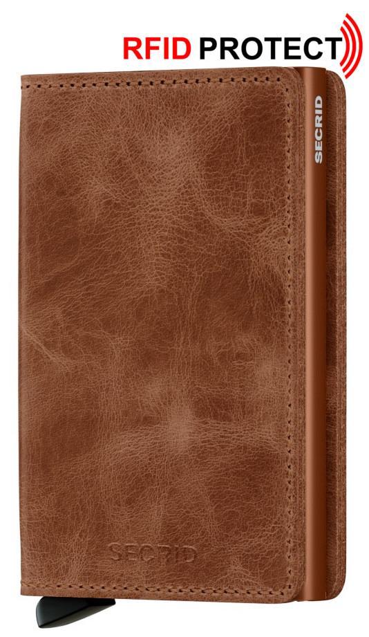 Kartenetui Secrid Slimwallet RFID-Schutz Cognac Rust braun