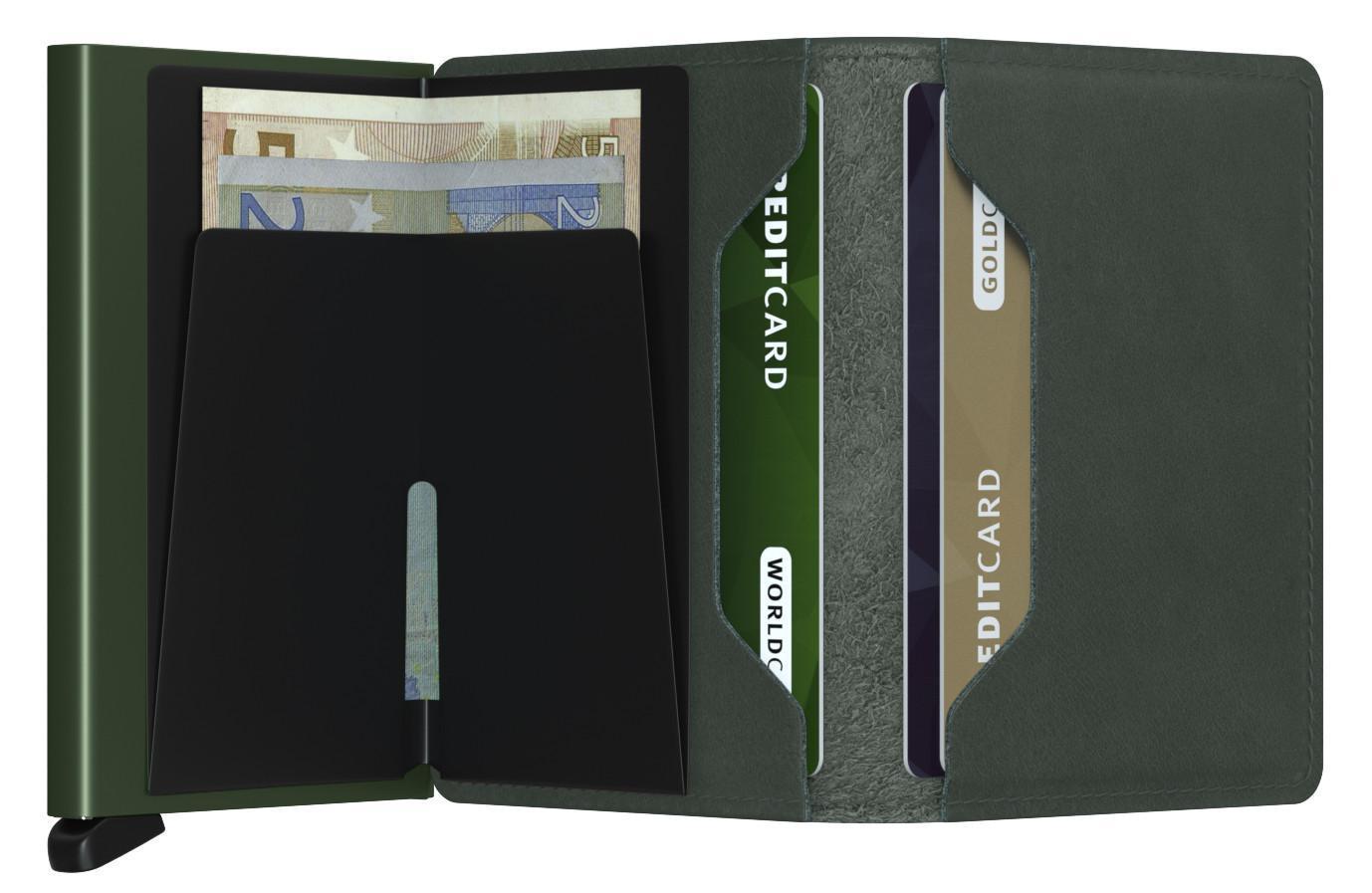 Kartenetui dunkelgrün Secrid Slimwallet RFID-Schutz Original Gre
