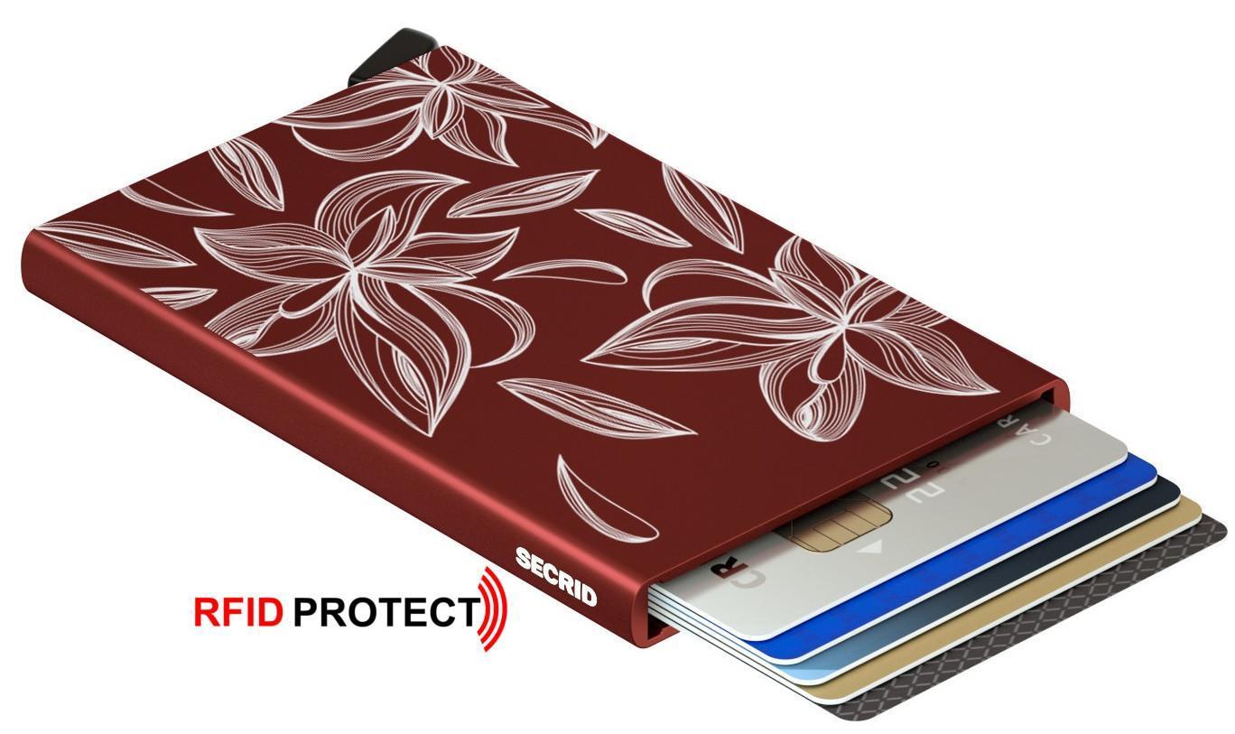 Kartenhülle Cardprotector Secrid Laser Magnolia bordeaux
