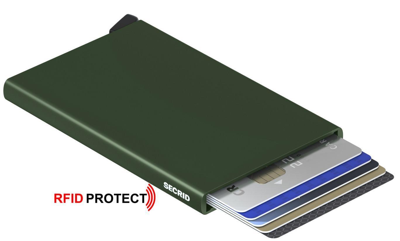 Kartenhülle Cardprotector Secrid green dunkelgrün RFID-Schutz