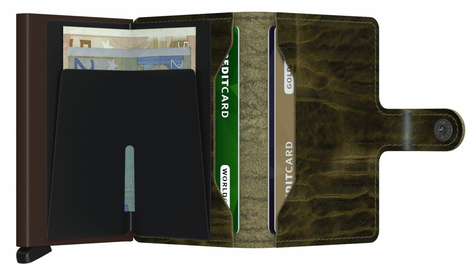 Kartenhülle Miniwallet Dutch Martin Olive Secrid Leder grün