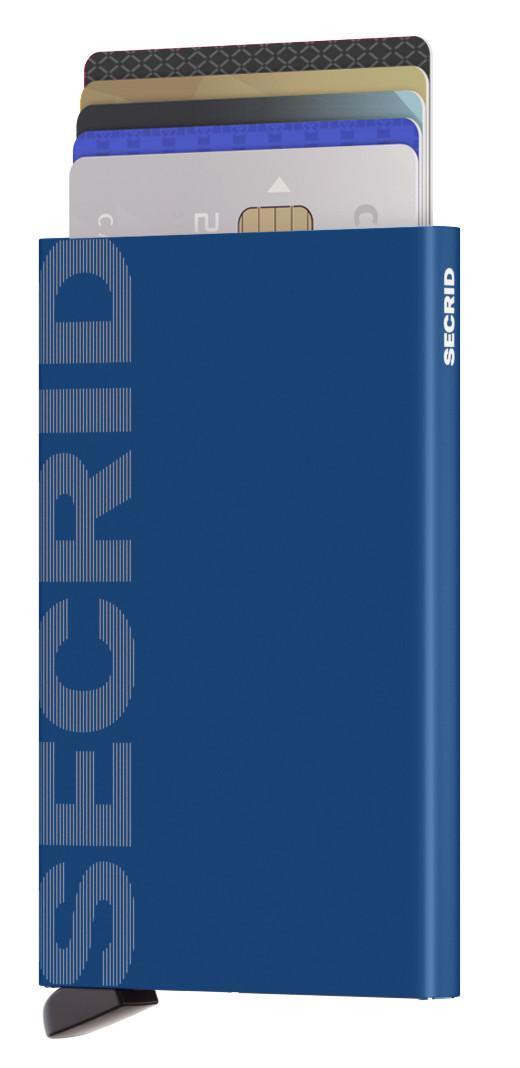 Kartenhülle blau Cardprotector Secrid Laser Logo Blue
