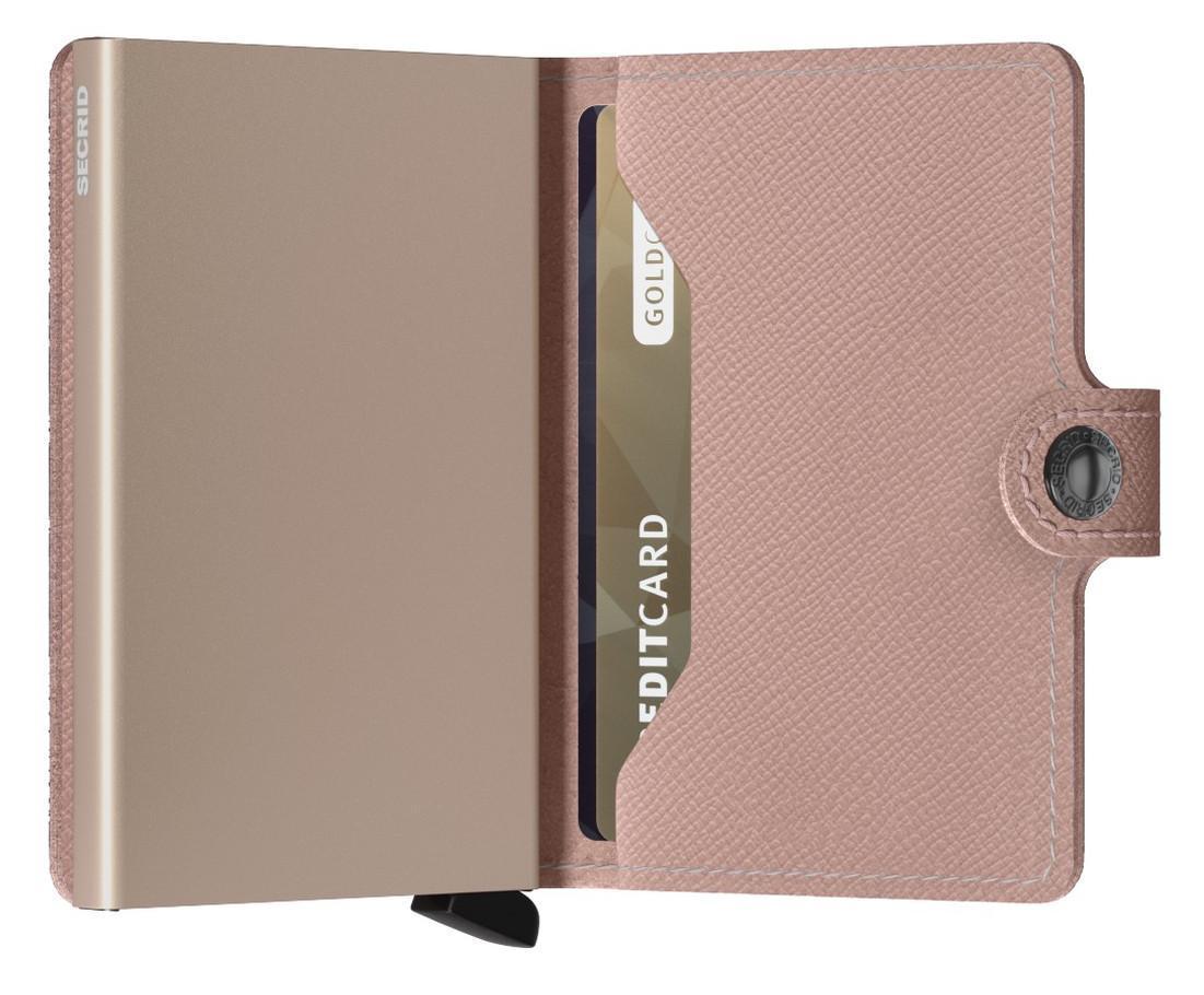 Kartenhülle rosa Secrid Miniwallet Crisple Rose RFID