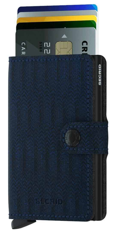 Kartenschutzetui Secrid Miniwallet Dash Navy schwarz blau RFID