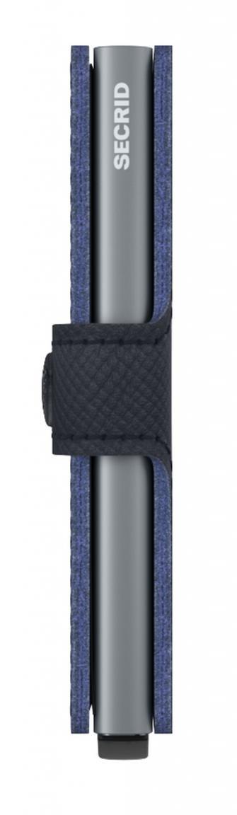 Kartenschutzhülle Secrid Miniwallet dunkelblau Saffiano Navy RFID
