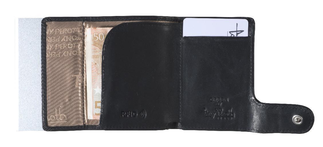 Kartenschutzhülle Tony Perotti schwarz Black RFID-protect