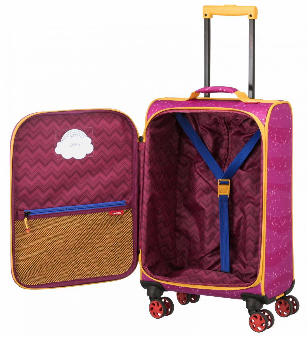 Koffer für Kinder Travelite Helden der Stadt Pink Polizeiauto Vo