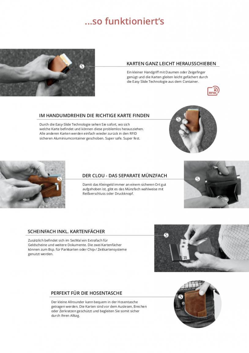 Kreditkartenbörse SecWal Vintage grau RFID-Schutz Münzfach