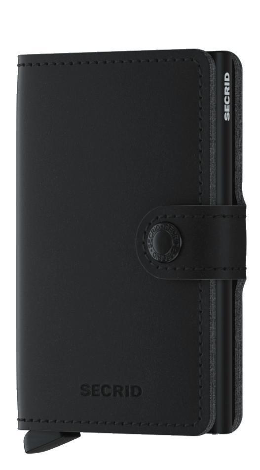 Kreditkartenetui Miniwallet RFID Soft Touch Black Lederimitat