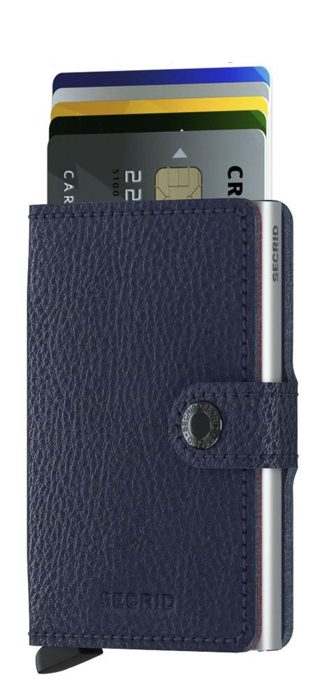 Kreditkartenhülle Secrid Miniwallet Veg Navy dunkelblau