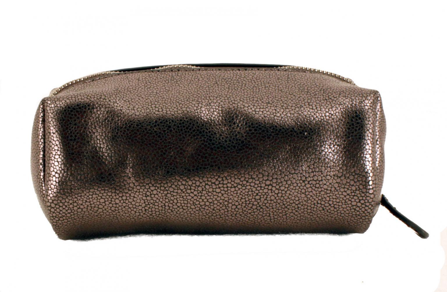 L. Credi Anke Aufbewahrungsetui silber Metallic zip