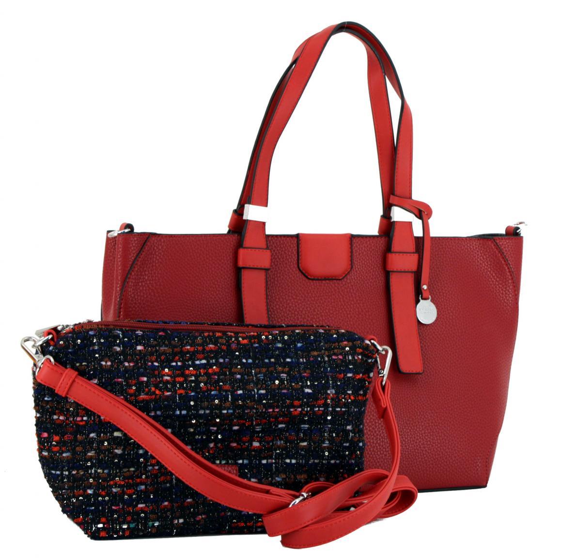 L.Credi Freundin-Collection Buena Shopper rot Boucle Anhäger
