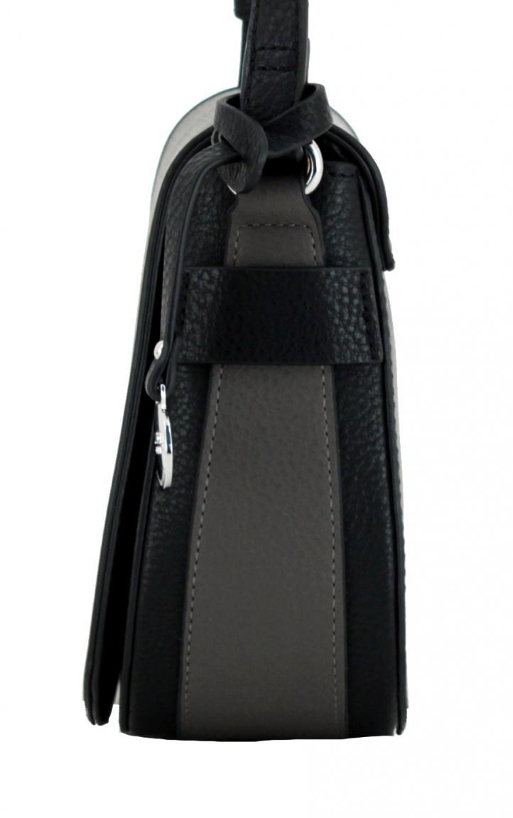 L.Credi Überschlagtasche Belen schwarz grau Crossover