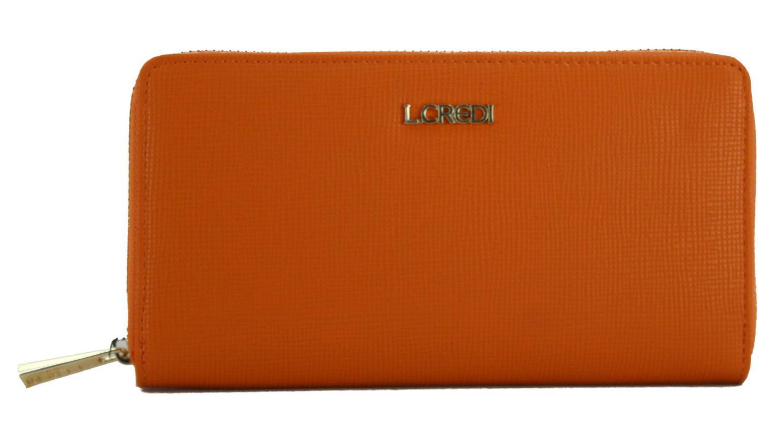 Langbörse L.Credi Munich Caledonia Ausleseschutz Orange