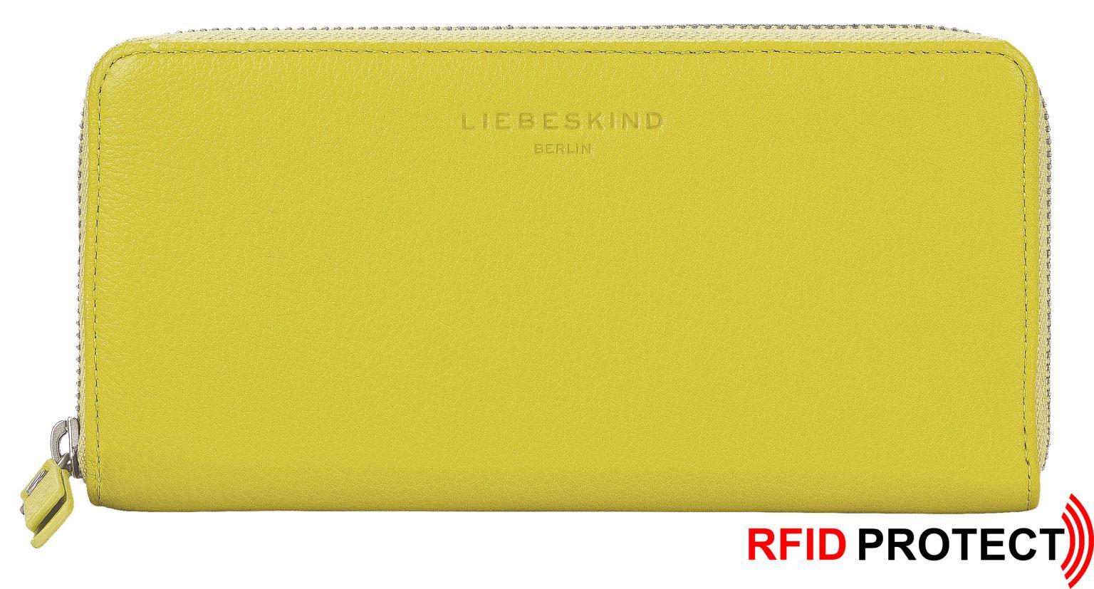 Langbörse zitronengelb Liebeskind Gigi RFID Ziparound Lime Harri