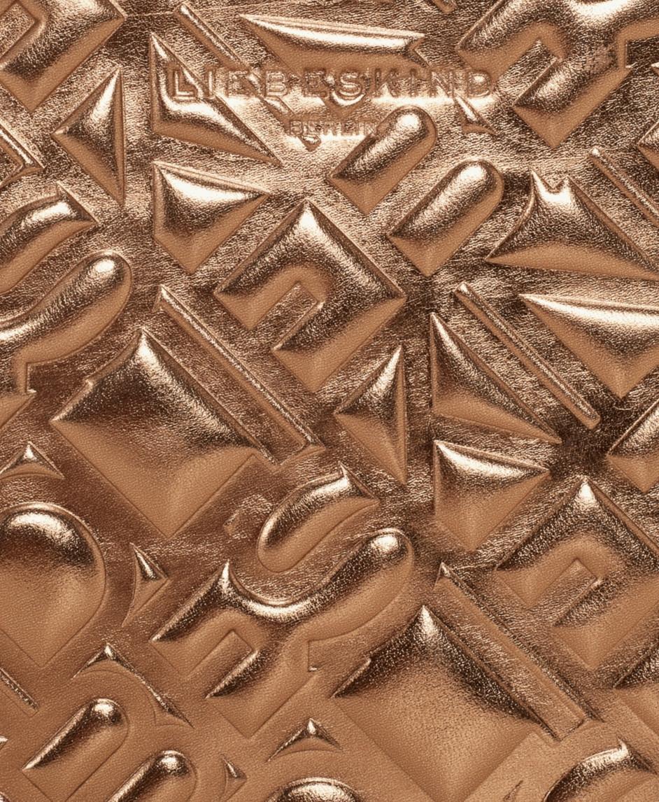 Lederetui MinjaMS8 Liebeskind metallic mordoré Bronze geprägt