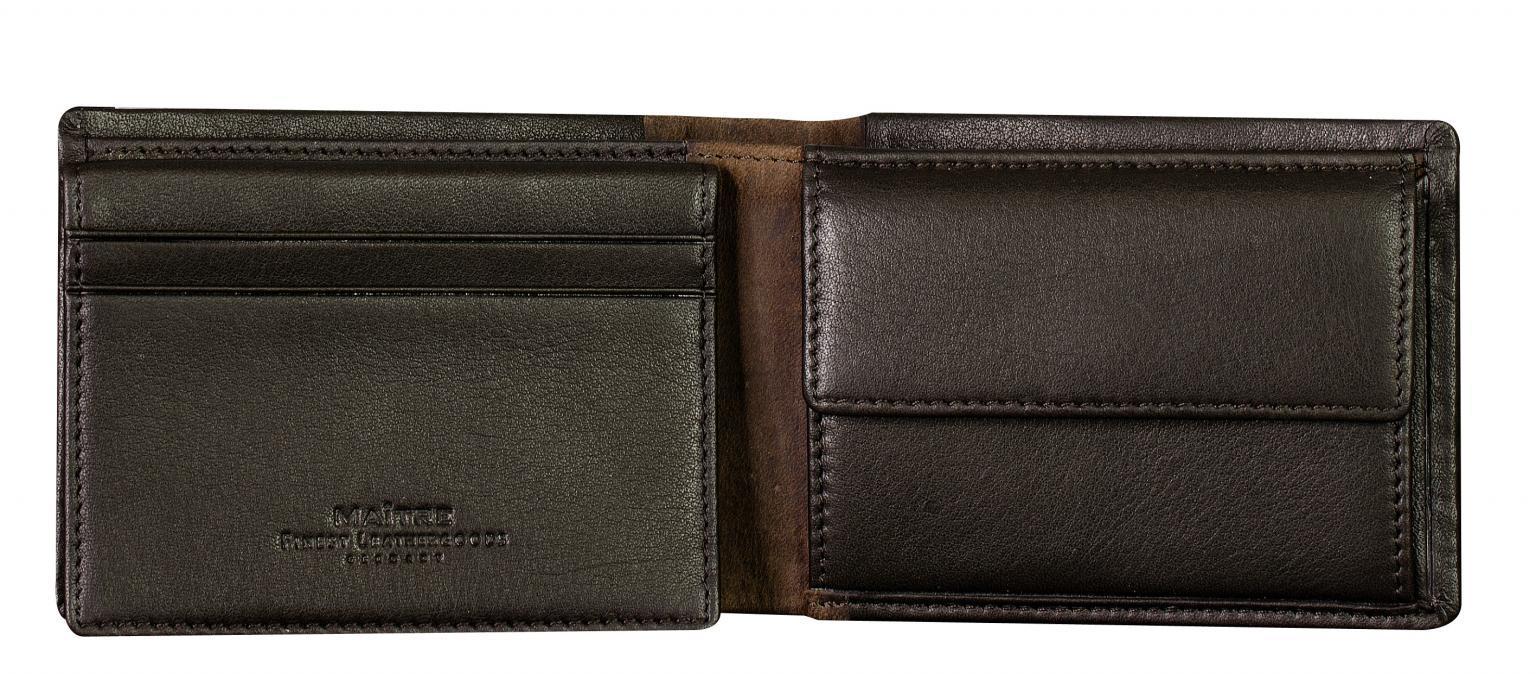 Ledergeldbeutel Maitre bundenbach Gerold BillFold dark brown RFID