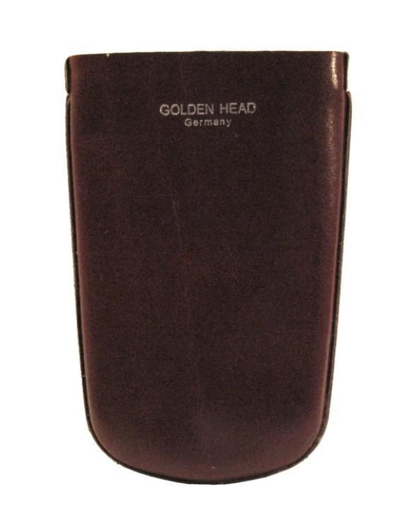 Lederschlüsseletui Golden Head Colorado bordeaux