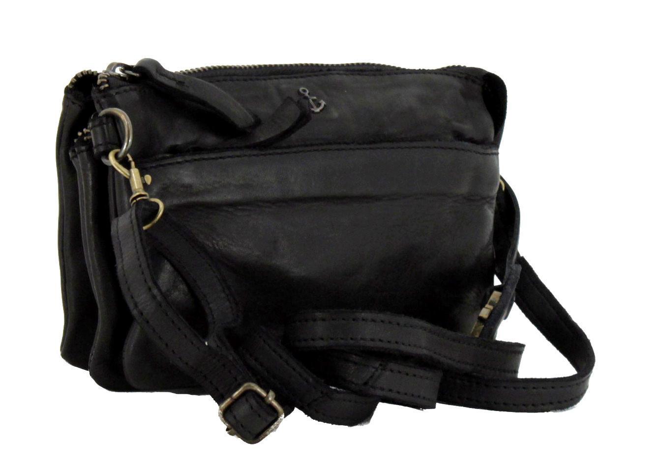 Ledertäschchen Perla Harbour2nd schwarz Ash Bum Bag