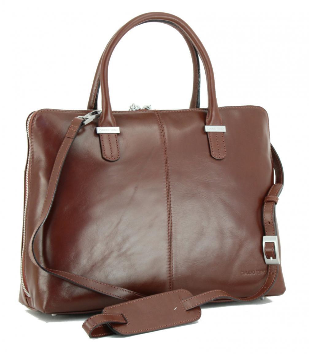 fb4f287c8dc43 Ledertasche Claudio Ferrici Business Laptop Tablet braun - Bags   more