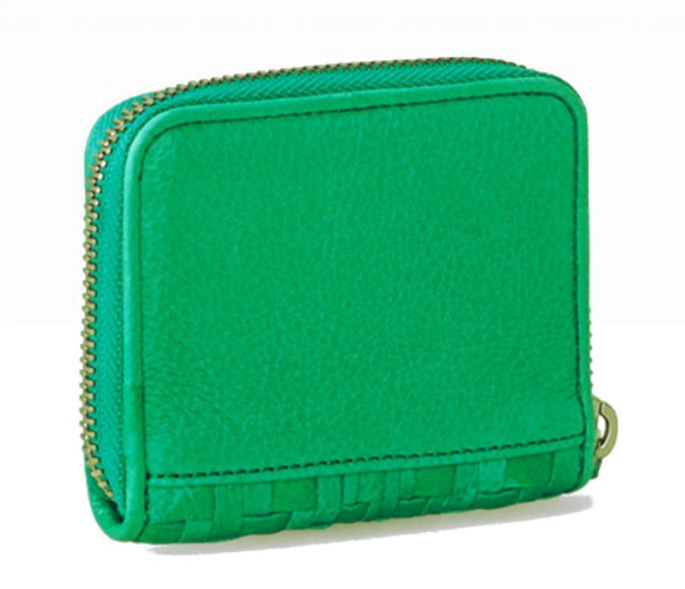 Liebeskind Damenbörse Etui DotS7 Flecht Palm Green
