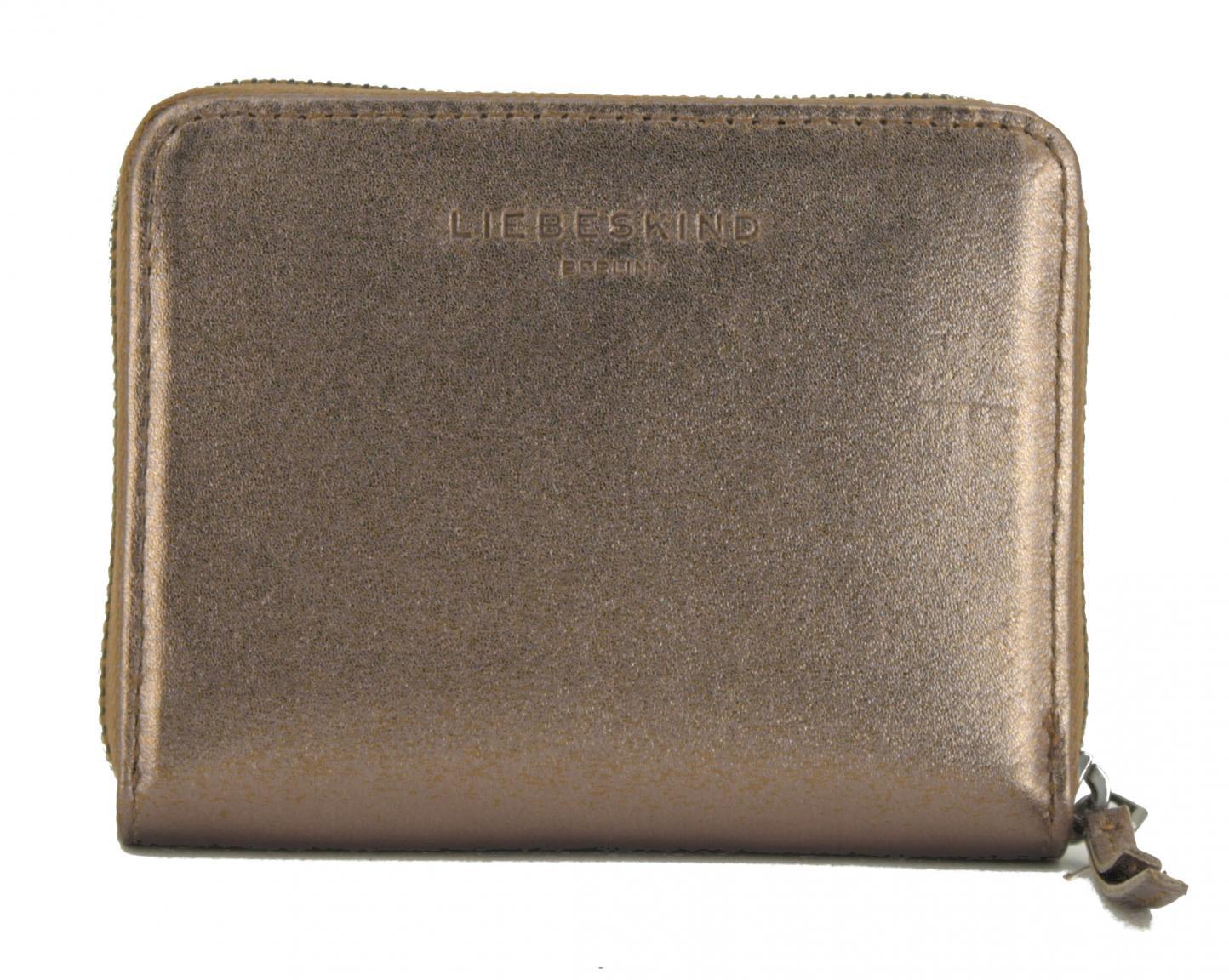Liebeskind Geldbörse Reißverschluss Conny Metallic Bronze
