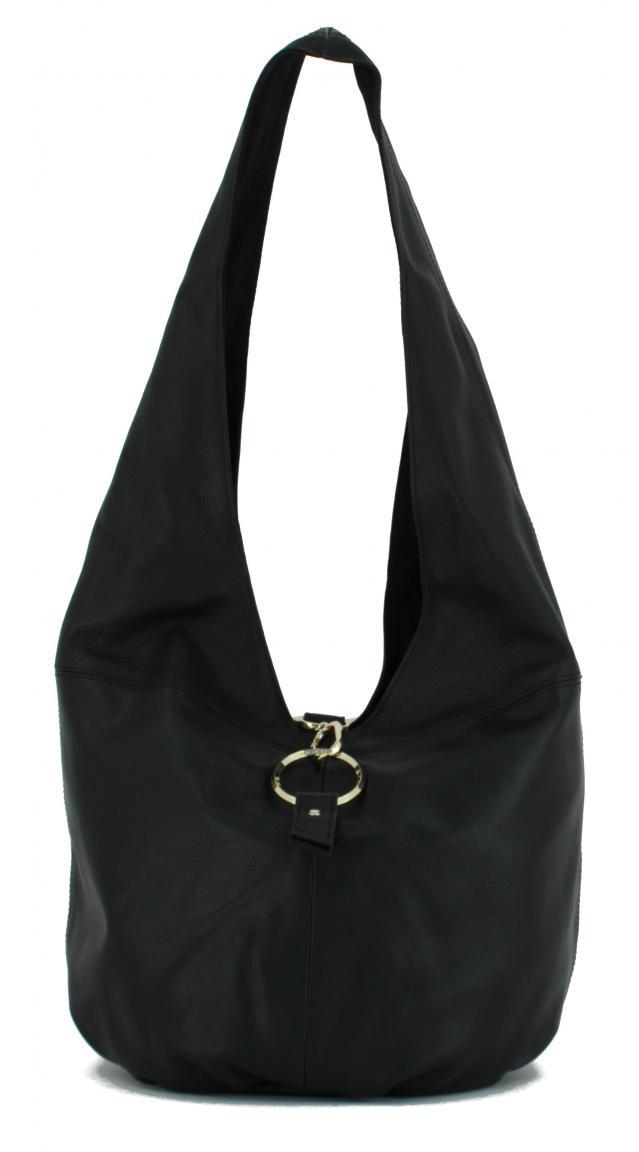 Liebeskind Hobo Bag Metalldekor cold grey Leder