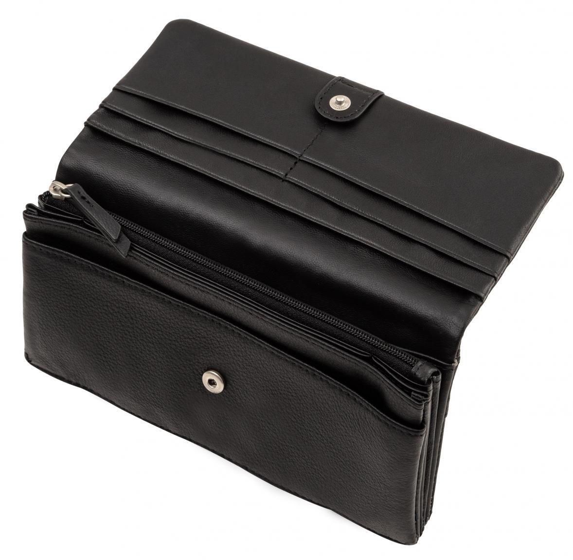 Liebeskind Leder SlamS2 schwarz RFID Überschlagbörse