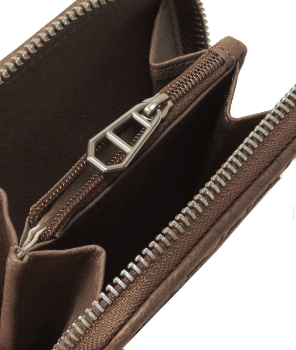 Liebeskind Lederbörse Etui DotS7 Weave Double Rhino Brown