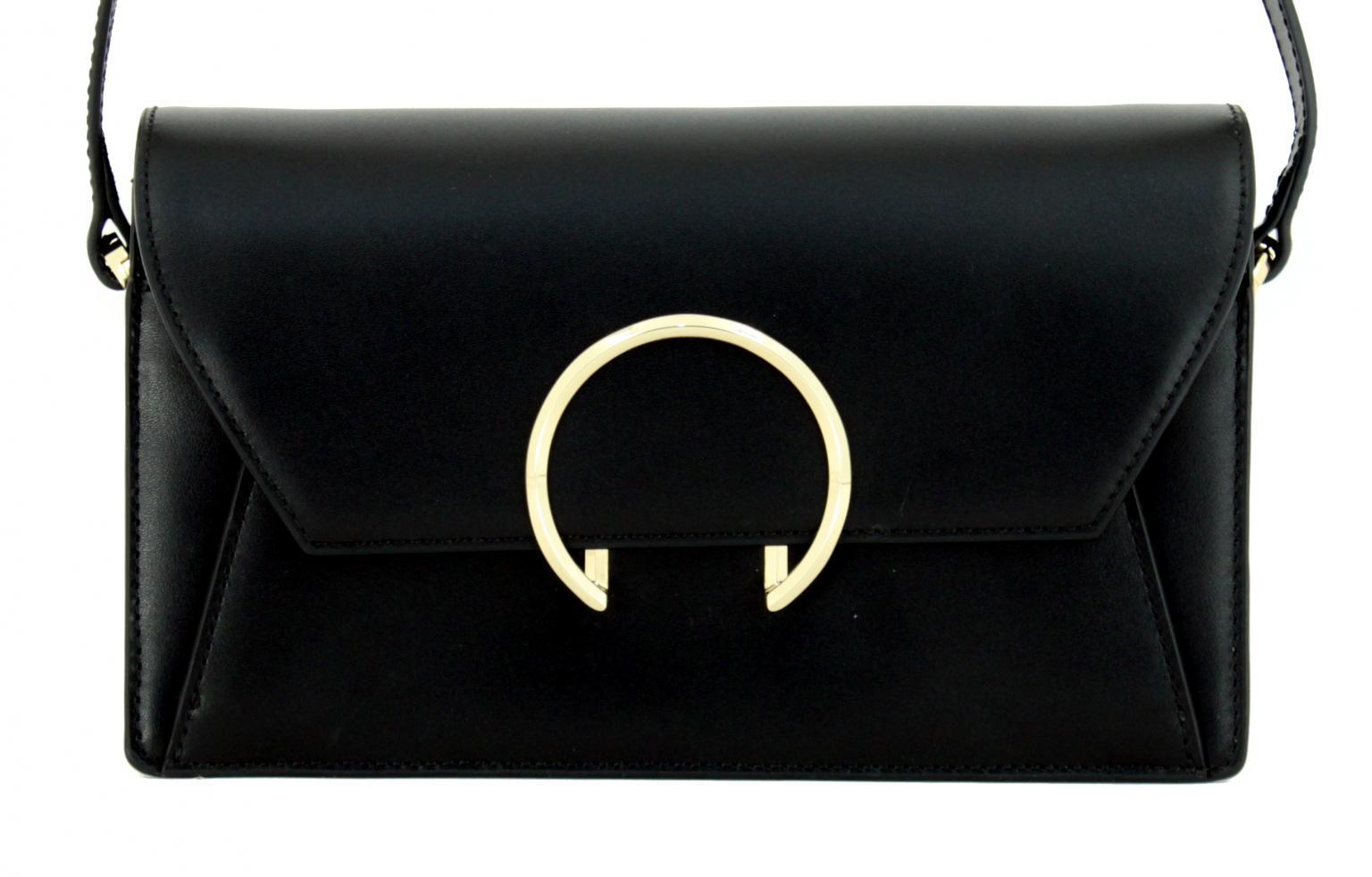 Liebeskind Ledertasche ClutchM Ring schwarz