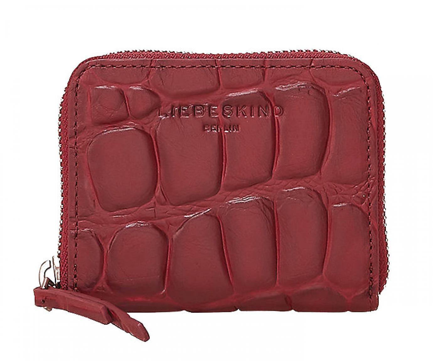 Liebeskind Portmonee Etui Zip Leder DotW7 Big Croco Rot