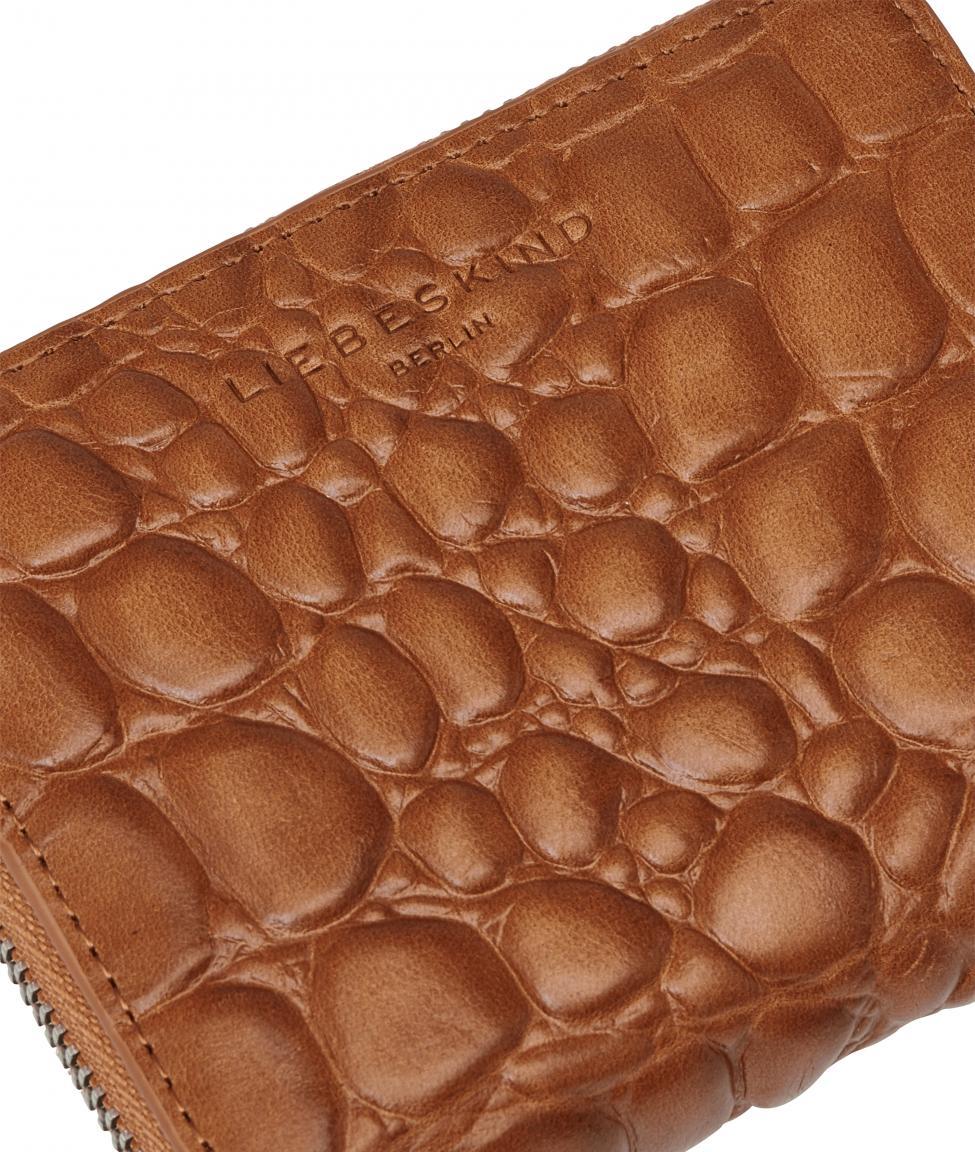 Liebeskind Waxy Croco Reptilprägung RFID Conny braun Geldtasche
