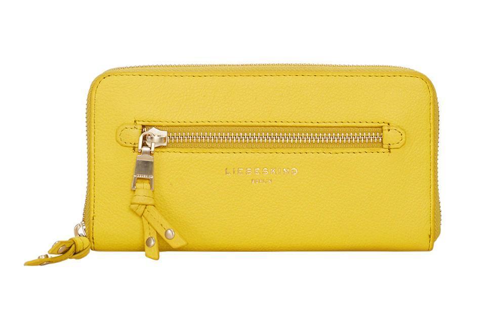 Liebeskind Zipbörse Leder Aruba Vintage lime zest gelb