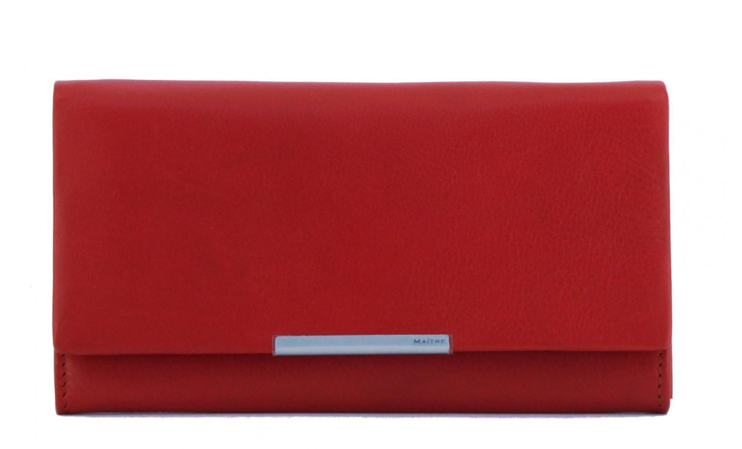 Maitre Damengeldbörse RFID Schutz Belg Diedburg LH8F red rot
