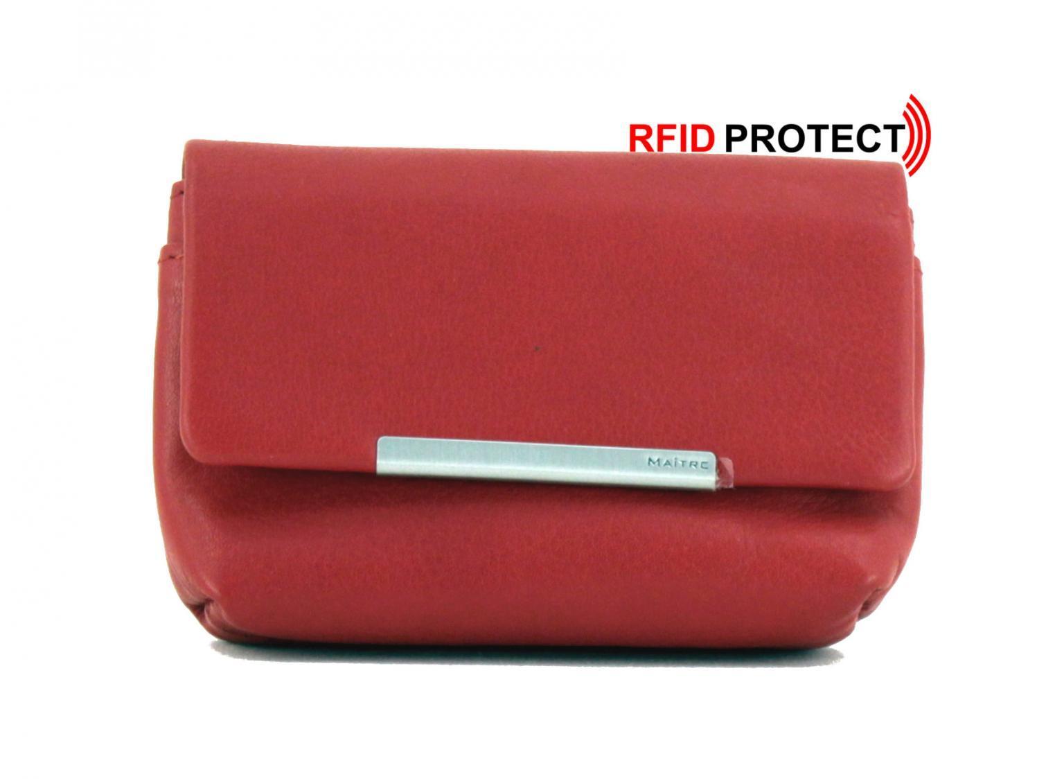 Maitre Schlüsselbörse Belg Siegwald KeyCase F rot RFID-Schutz