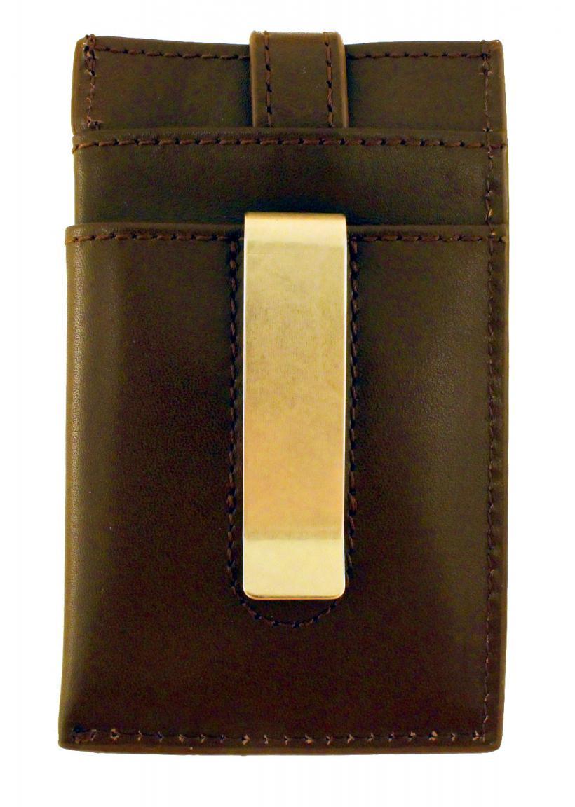 Marc oPolo Geldspange Kartenetui Leder brown dunkelbraun