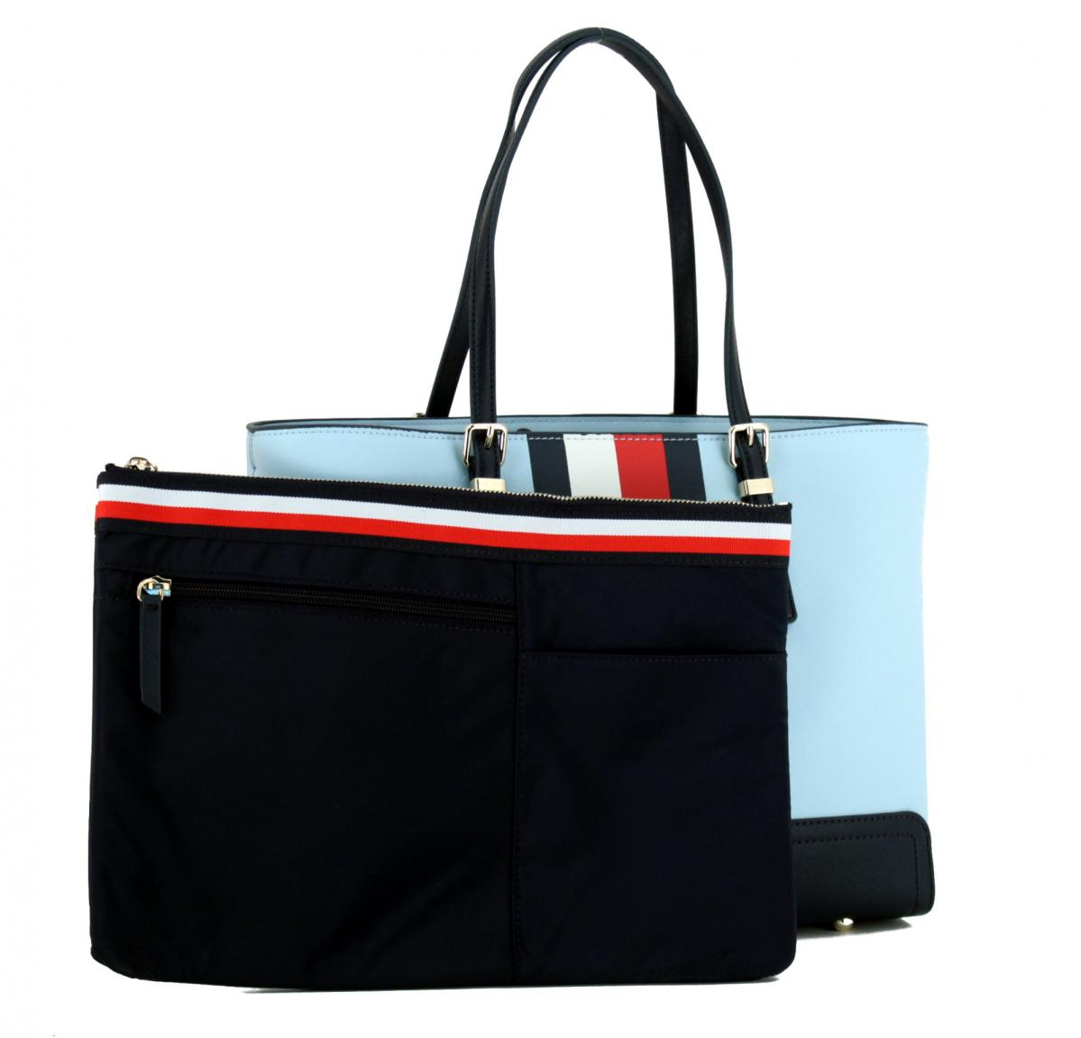Medium Tote Bag Tommy Hilfiger Honey hellgelb blau Laptopfach