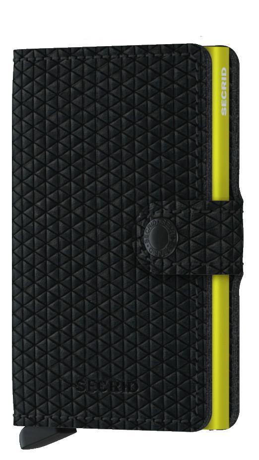 Miniwallet Diamond Black schwarz gelb Prägung Secrid Kartenetui