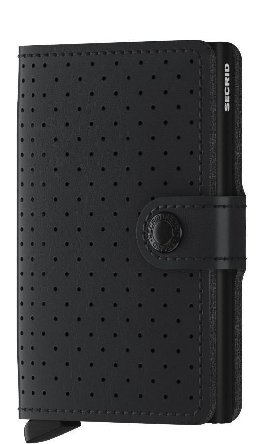 Miniwallet Kartenetui Perforated Black schwarz gelocht Secrid
