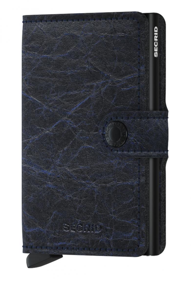 Miniwallet Knitteroptik Crunch Blue schwarz blau Ausleseschutz Secrid