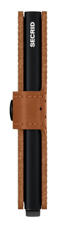 Miniwallet Secrid RFID-Schutzetui Glattleder perforiert braun