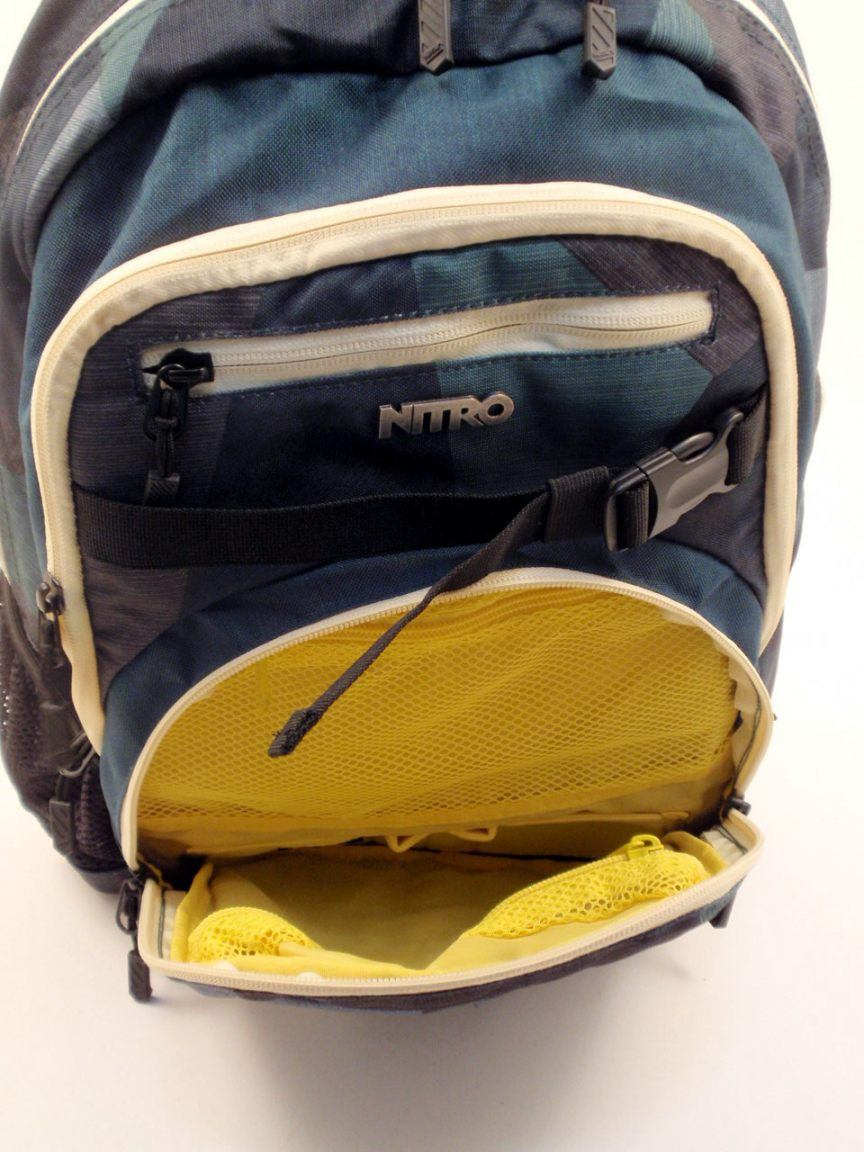 Nitro Rucksack Chase heather stripe blau/orange
