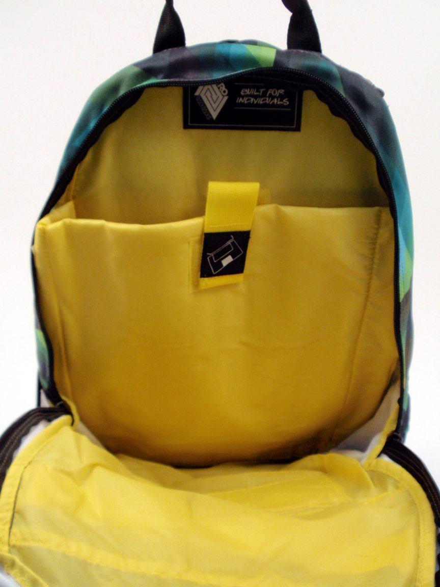 Nitro Schulrucksack Stash gunmetal gelb/grau