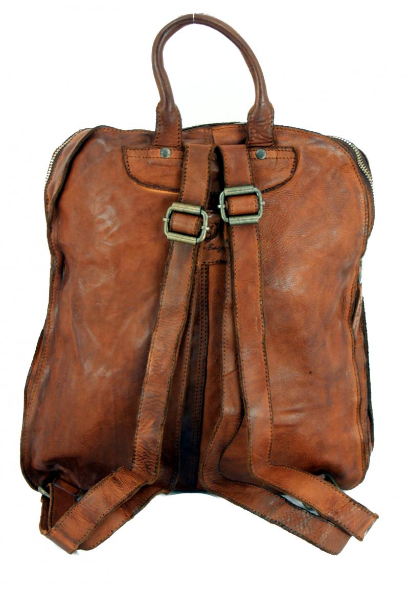 Patchwork Rucksack Bear Bags Grizzly Cognac braun Vintage