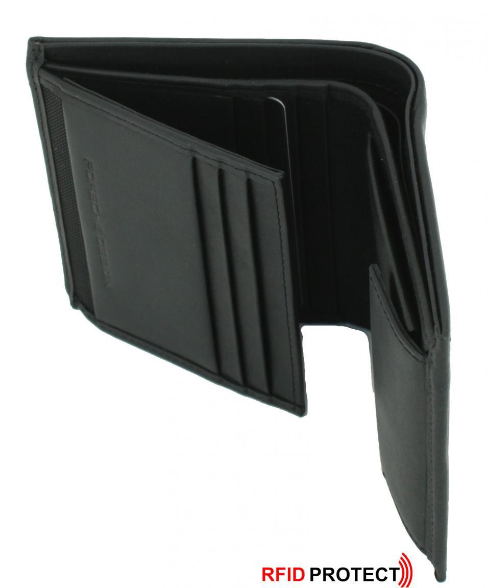 Porsche Design Herrenportmonee klein Leder schwarz RFID-Schutz